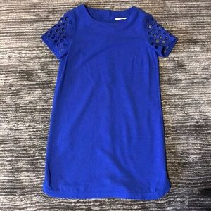 Dresses & Skirts - Blue dress w/ cut out sleeves & buttons down back